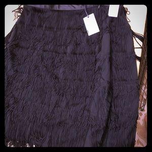 Gap flapper fringe skirt